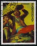 饮者Francisko de Goya 免版税图库摄影