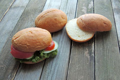 饮食三明治 免版税库存图片