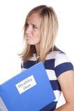 饮食健康认为的妇女 免版税库存照片