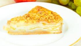 饮食和健康吃:可口苹果饼 库存图片