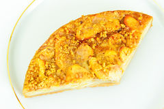 饮食和健康吃:可口苹果饼 免版税库存图片