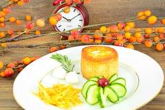 饮食和健康吃:早餐用鸡蛋 图库摄影