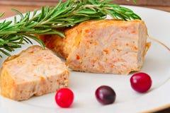 饮食和健康食物:被充塞的鸡与 免版税图库摄影