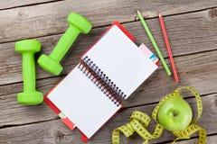 饮食和健身概念 图库摄影