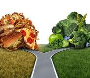 饮食困境 免版税图库摄影