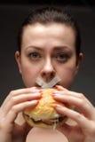 饮食女孩 库存图片