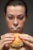 饮食女孩 免版税库存照片