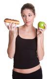 饮食妇女 免版税库存图片
