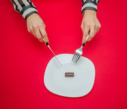 饮食妇女 免版税库存照片