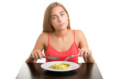 饮食妇女 库存图片