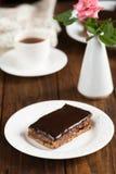 饮食巧克力蛋糕 免版税库存图片