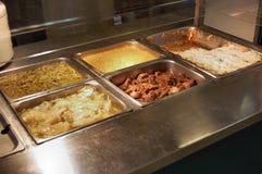 饮食服务表 免版税库存图片