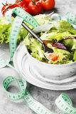 饮食混杂的蔬菜沙拉mesclun, mache,莴苣 库存图片