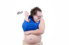 饮食的肥胖人 库存图片