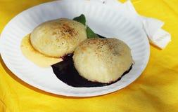 饮食矮子食物松饼比更坏 免版税图库摄影