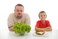 饮食示例健康教学 图库摄影