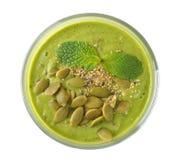 饮食绿色圆滑的人 免版税库存照片