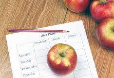 饮食计划。 免版税库存图片