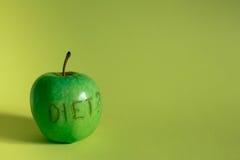 饮食绿色Apple 库存图片