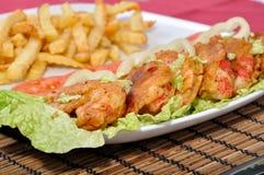 饮食surimi 免版税库存图片