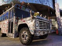 饰以珠宝的公共汽车 免版税图库摄影