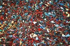 饱和的Shreaded橡胶 库存照片