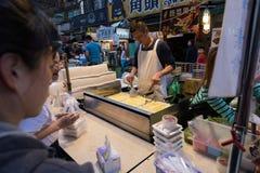 饶河街夜市场,台北,台湾 免版税库存图片