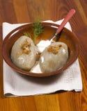 饺子土豆 免版税库存图片