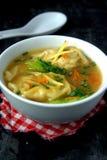 饺子汤 图库摄影