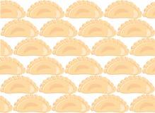 饺子的无缝的样式 免版税库存照片