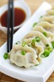 饺子蒸的调味汁大豆 图库摄影