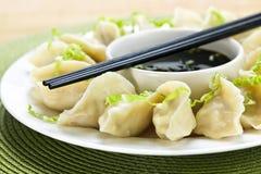 饺子蒸的调味汁大豆 免版税库存图片