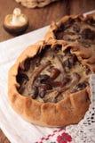 饼做了†‹â€ ‹黑麦面粉充塞用蘑菇 库存照片