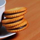 饼干中断咖啡 图库摄影