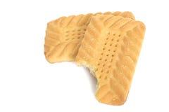 饼干叮咬 免版税图库摄影