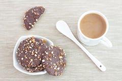 饼干和咖啡 免版税图库摄影