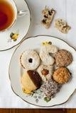 饼干和茶 免版税库存照片