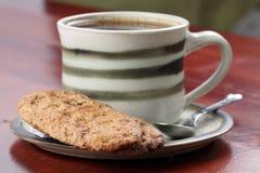 饼干咖啡 免版税库存照片
