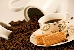 饼干咖啡 免版税库存图片