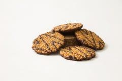 饼干巧克力查出的白色 库存照片