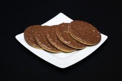 饼干巧克力牌照白色 图库摄影