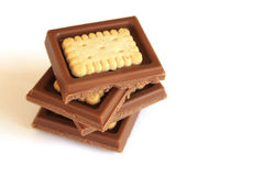 饼干巧克力 免版税库存照片