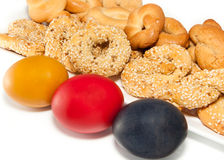饼干希腊语的复活节彩蛋 免版税库存照片
