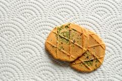 饼干席子纸张安排 免版税库存照片