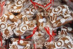 饼干曲奇饼日可口姜饼重点理想的呈S形的华伦泰 库存图片