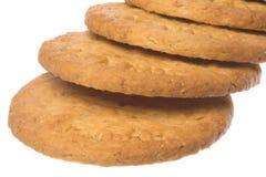 饼干查出的宏观燕麦粥 库存图片