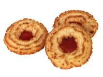 饼干椰子果酱环形 免版税图库摄影