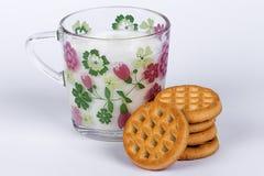 饼干牛奶 免版税图库摄影