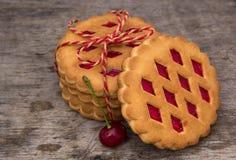 饼干用樱桃 免版税库存图片