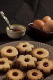 饼干用自创的果酱 库存照片